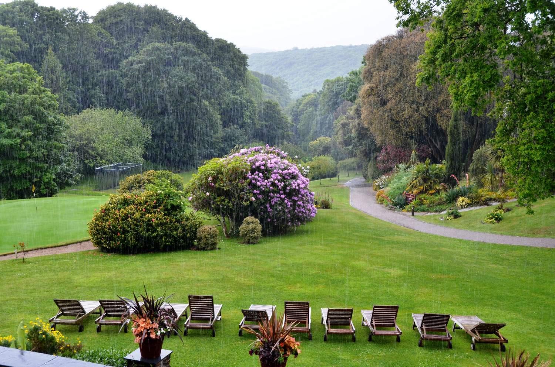 Gardens Of The Buddock Vean Hotel Helford Passage Cornwall England