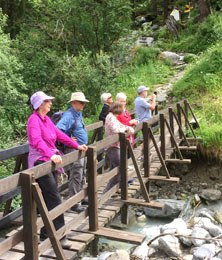 Guided walking holidays Swiss Alps