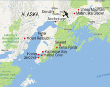 Alaska walking itinerary