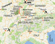 Champagne walking itinerary