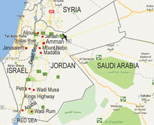 Jordan walking itinerary