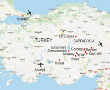 Turkey walking itinerary