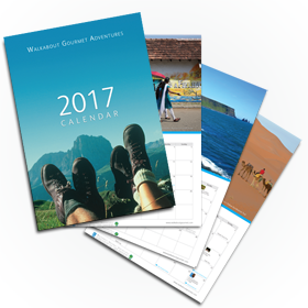 2017 wall travel calendar