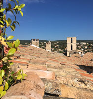 View from the roof terrace Forcalquier
