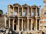The library in Ephesus Turkey