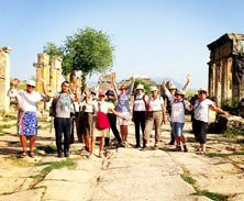 ntering the ancient city of Hierapolis near Pamukkale in Turkey