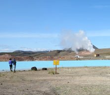 Geothermal features near Lake Myvatn Iceland