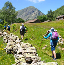 Walking group Pyrenees