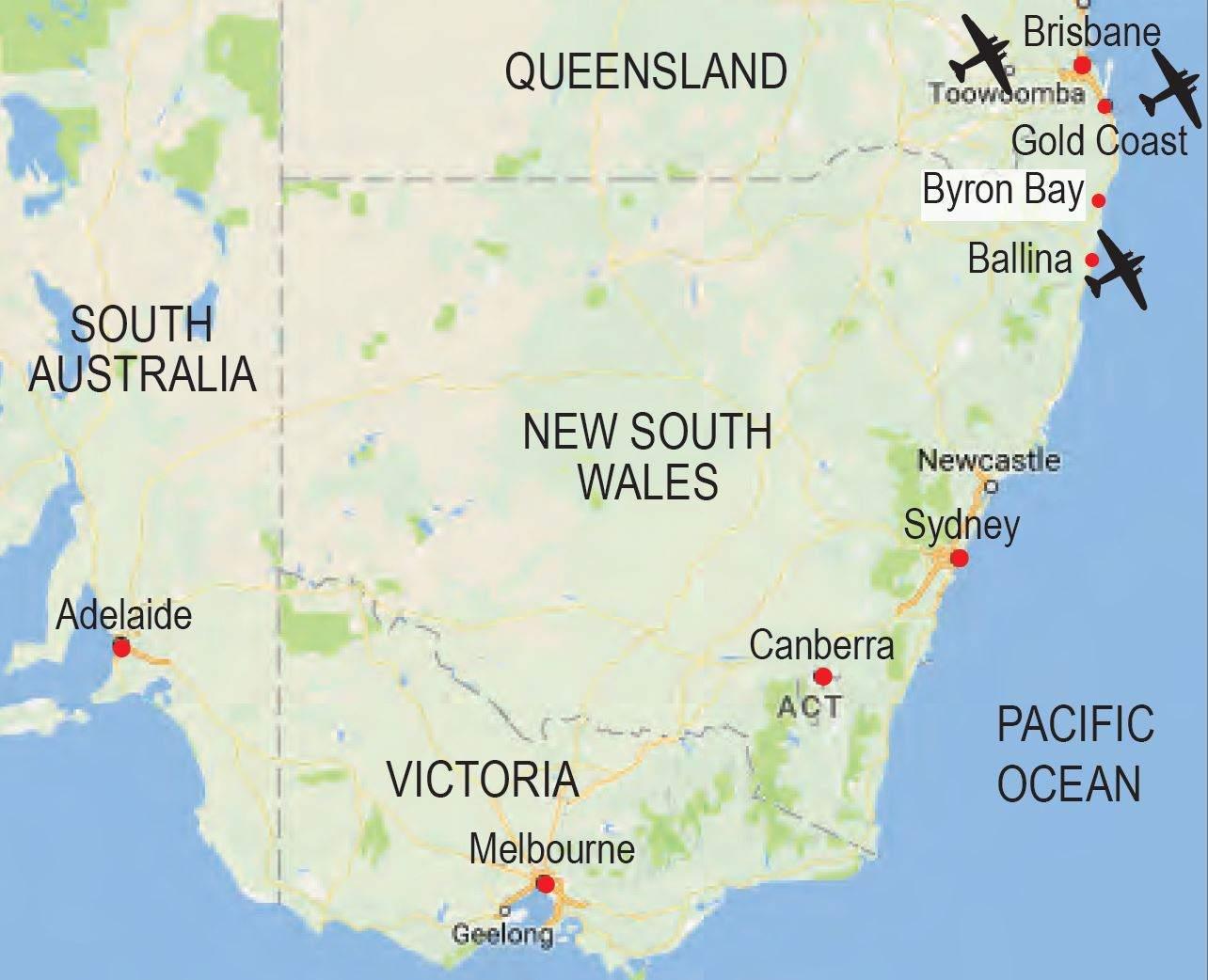 Australia Map Byron Bay.Map Byron Bay