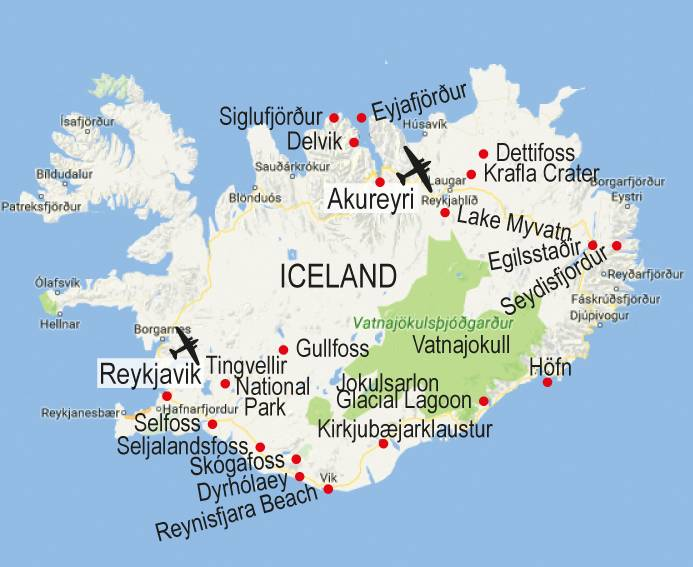 iceland map DriverLayer Search Engine