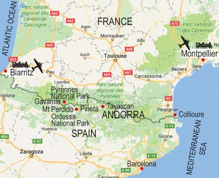 walk map pyrenees