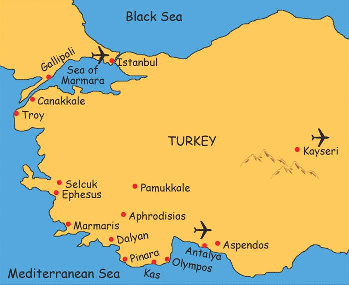 Walk Map Turkey Asia Minor